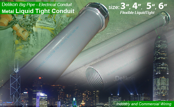 Delikon Metal Liquid Tight and Liquid Tight Conduit Fittings For Rail Road & Subway Power and Signal Cable Protection