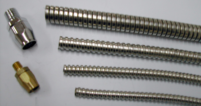 Whole range of connectors for flexible metal conduit