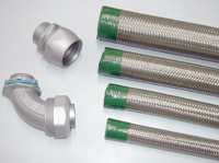 Connector For Braided Flexible Conduit System