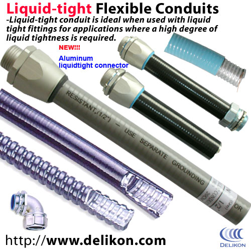 Liquid-tight Flexible Steel Conduits,Liquid Tight Conduit Fittings