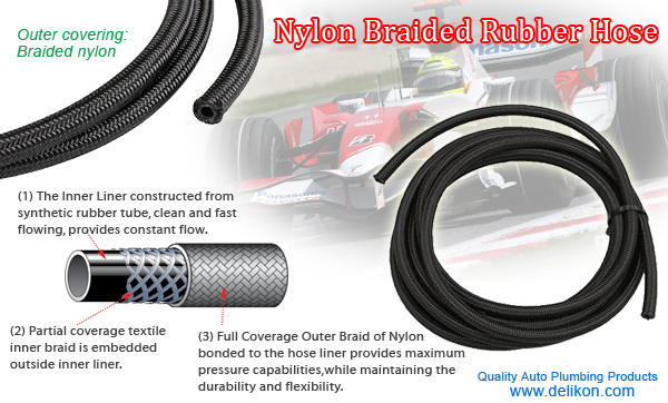 Nylon Braided Rubber Hose for Racing Cars