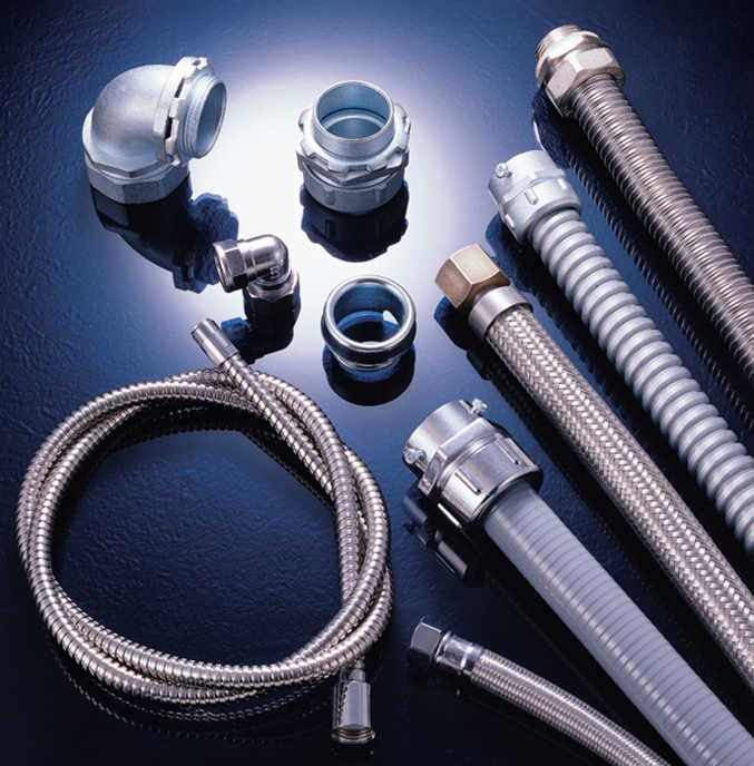 Whole range of flexible conduits,fittings