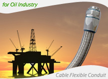 SEMI Electrical Flexible conduit and fittings for petroleum industry cable protection
